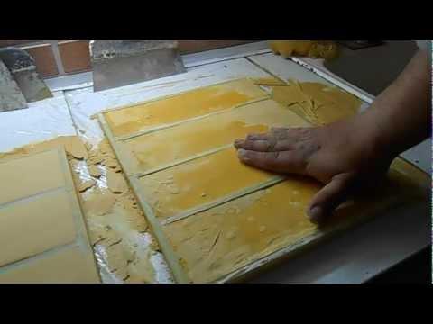 Сделать плитку из гипса своими руками