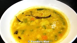 Bengali Sabji diye Bhaja Mung Dal (Vegetable and Moong Dal ) -recipe by Foodie's Hut # 0024