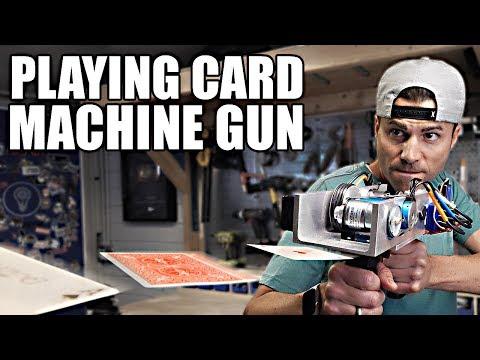 Playing Card Machine Gun Card Throwing Trick Shots