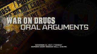 War on Drugs Oral Arguments