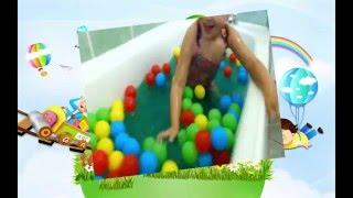 WUBBLE BUBBLE BALL Family kids Video Ryan ToysReview | Girl play balls