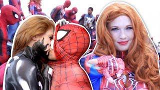 SPIDER-MAN, VENOM, MARY JANE, SPIDERVERSE VS Dragon CON 2017 VS Pretty Ladies