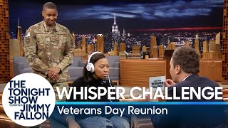 Whisper Challenge Veterans Day Reunion Surprise