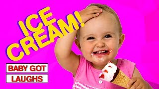 Babies Eating Ice Cream! | CUTE Baby Eating Tasty Desserts Compilation