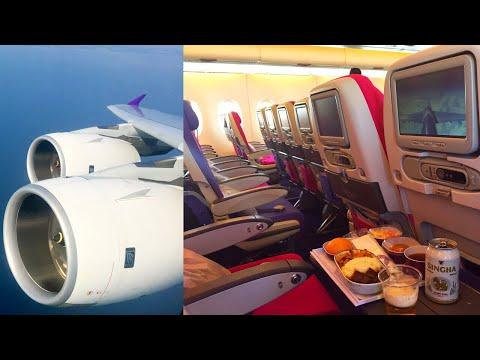 Xxx Mp4 Empty Thai Airways Airbus A380 800 Hong Kong Bangkok HS TUA 3gp Sex