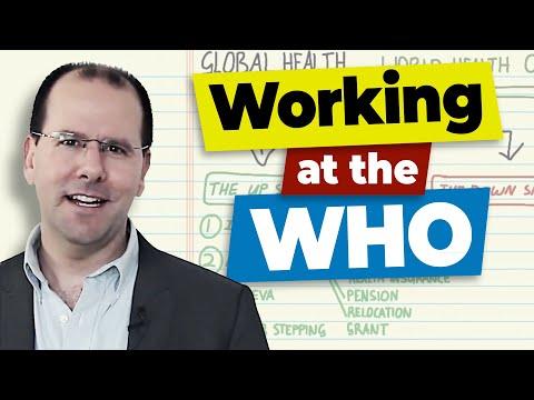 Getting a job at the World Health Organization