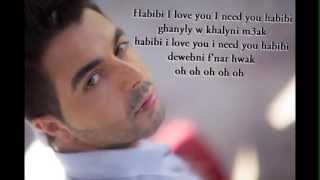 Ahmed Chawki feat Pitbull Habibi I love you lyrics