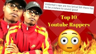 WAIT WHAT! | Top 10 Youtube Rappers: By YourRage | (Response Track)