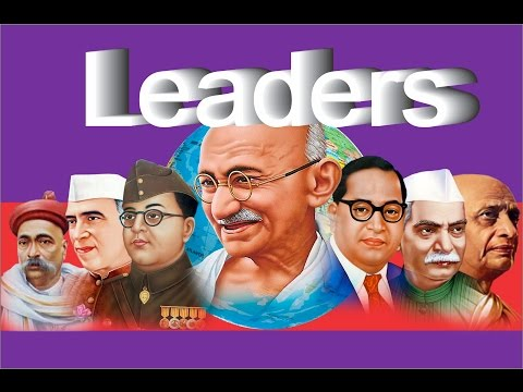 Learn English -Pre School- Learn Names of Indian  Leaders in English for Kids