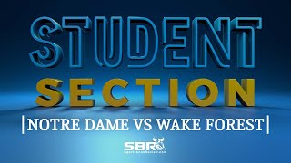 Notre Dame vs Wake Forest | College Football Free Picks | The Student Section Clips