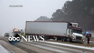 Wintry mix brings snow, ice across the US