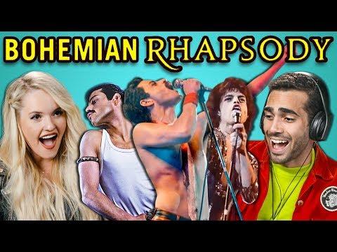 Adults React To Bohemian Rhapsody Trailer Queen Freddie Mercury Movie