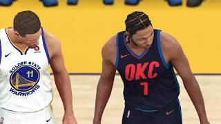 2021-2022 Thunder vs Warriors