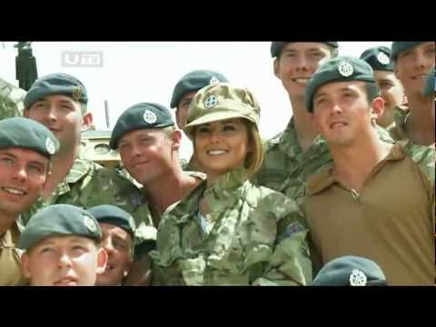 Cheryl Cole in Afghanistan Pride of Britain Awards