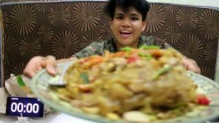 MUKBANG KWETIAU DILUAR BATAS !!!FULL DAGING DAN SEAFOOD + SAMBEL LEVEL 10  HABIS DALAM 8 MENIT!!!