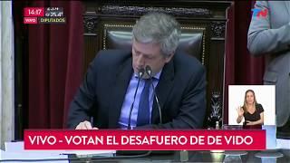 Así se votó el desafuero de De Vido