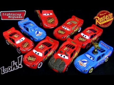 10 Lightning Mcqueen Cars 2 toys Diecast Muddy Tar Wet Tongue Bling Cruisin Dinoco Disney toy