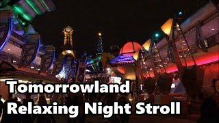 Tomorrowland Relaxing Stroll at Night | Magic Kingdom | Walt Disney World