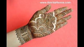 TRADITIONAL RAJASTHANI BRIDAL HENNA MEHNDI DESIGN   FULL HAND MARWARI MEHENDI FOR INDIAN WEDDING