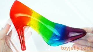 Making Slime Jelly High Heels DIY How to Make Learn Colors Play Doh Peppa Pig Popsicle Ice Cream Toy