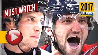 Sidney Crosby vs Alex Ovechkin 2017 NHL Playoffs Highlights. 8 Goals Total. (HD)