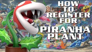 How to Register for Piranha Plant in Smash Bros Ultimate with Physical Game Copy