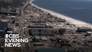 View from Coast Guard helicopter shows Michael
