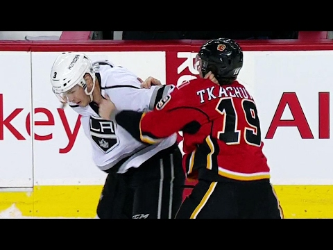 Tkachuk finally settles beef gets dropped by McNabb