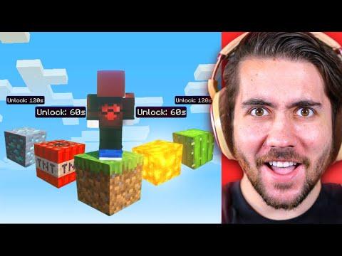 Minecraft But Every Minute I Unlock A NEW Block