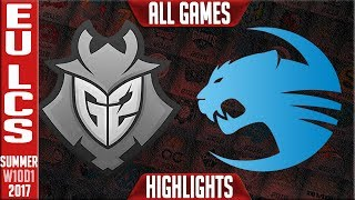 G2 Esports vs Roccat Highlights ALL GAMES Week 10 EU LCS Summer 2017 G2 vs ROC