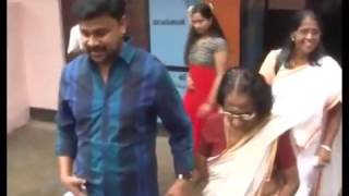 Dileep and his Mother in Local Body Election 2015 Polling Visual