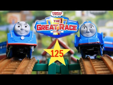 THOMAS AND FRIENDS THE GREAT RACE 125 TRACKMASTER PLARAIL STREAMLINED THOMAS TOY TRAINS