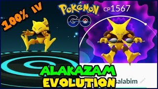 Evolving 100iv ABRA to ALAKAZAM (Pokemon Go Evolution)
