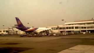 Hazrat shajalal international  Airport  Jet airways on takeoff dhaka  to bombay