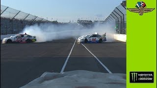 Wild spin, hard wreck for Clint Bowyer