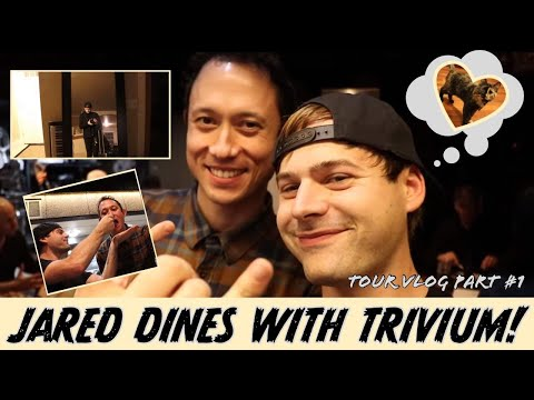 Jared DINES with Trivium! (Tour vlog pt. 1)