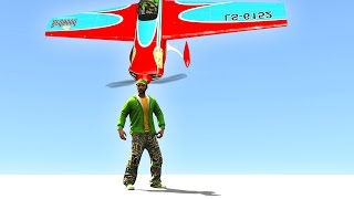 DODGE THE FALLING PLANES! (GTA 5 Funny Moments)