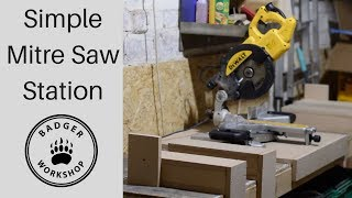 Simple Mitre Saw station