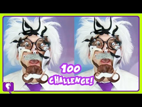 Xxx Mp4 100 Googly Eye N Mustache Challenge Floor Is Lava Challenge W HobbyHarry 3gp Sex