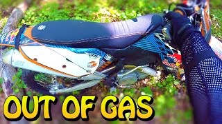 OUT OF GAS IN THE WOODS! - MOTOVLOG #13 KTM 450XCW