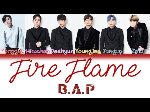 B.A.P (비에이피) - Fire Flame | Kan/Rom/Eng | Color Coded Lyrics |