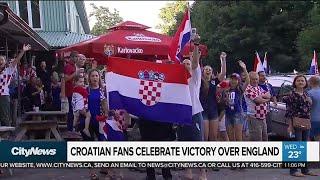 Croatian fans celebrate team