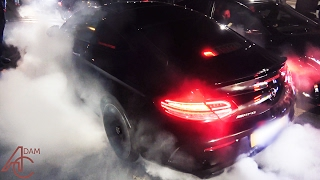 2017 Mercedes C63 AMG Coupe does SMOKY BURNOUTS!