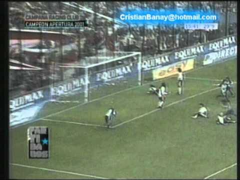Racing 1 River 1 Apertura 2001 Relato Mariano Closs German Sosa y Victor Hugo
