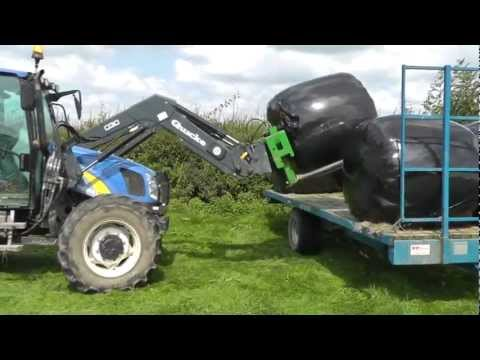 Silage 2011 Bale Collecting with New Holland 5060. Plus . . . . .