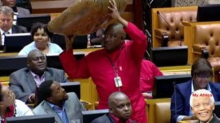 ☻FUNNY. EFF Demonstrates chaos In Parliament To Ramaphosa.