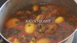 """ AALOO GOSHT IN A POT "" Bajias Cooking"