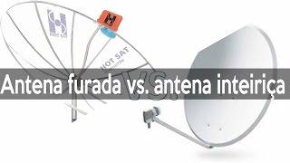 Por que Antena Banda C é furada e Banda KU é Inteiriça Telada e de Chapa   GPS Pezquiza com