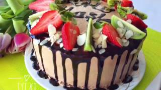 Çikolatalı Meyveli  Yaş Pasta Tarifi - Tadimiz Tuzumuz