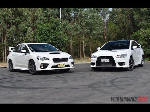2016 Subaru WRX STI vs Mitsubishi Lancer Evolution X: 0-100km/h, engine sound